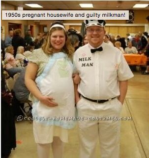 A little bit of nostalgia never hurts. Flashback 1950s pregnant housewife and the guilty. Coolest Homemade Costumes  sc 1 st  HuffPost & 15 Clever Costumes For Midlifers Who Will Never Outgrow Halloween ...