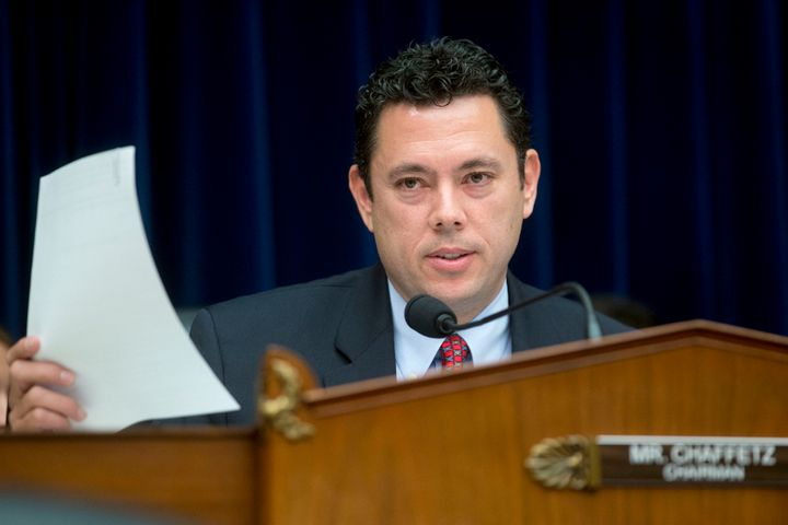 Rep. Jason Chaffetz (R-Utah), chairman of the House Oversight and Government Reform Committee, makes an opening statement dur