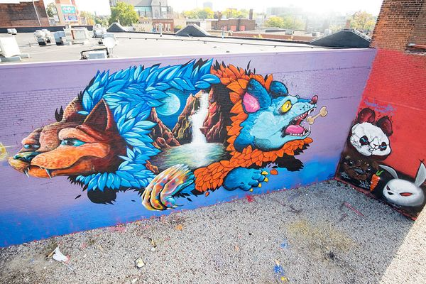 Mural by Nosego, Woes and Luke Chueh.