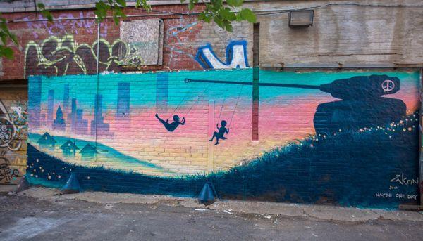 Mural by Ron Zakrin.