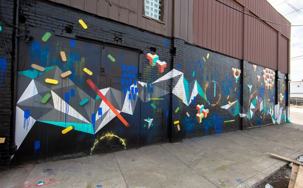 Mural by Brian Lacey.