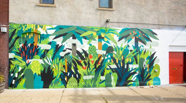 Mural by Eugene Carland.