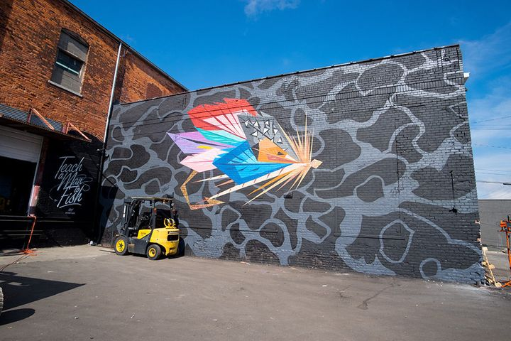 This was Rick Williams' first time working on a mural.