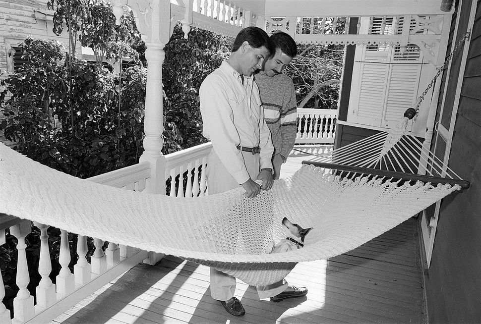 "<strong>Trip and Alan, Key West, Florida, January 1988</strong> <br><br>""We're together virtually 24 hours a day, seven"