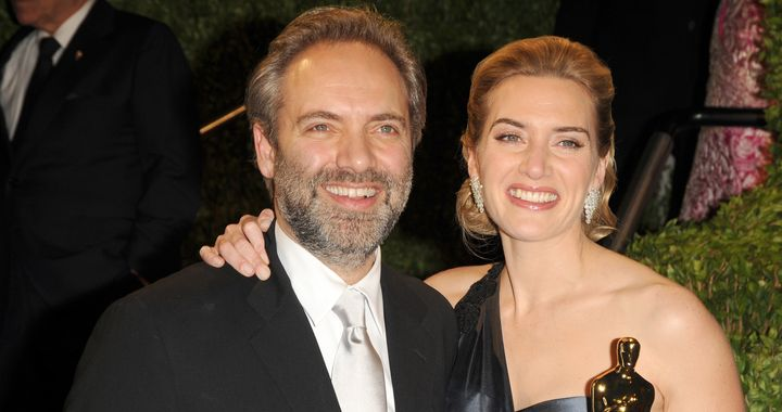 Kate and ex-husband Sam Mendes attending the 2009 Vanity Fair Oscar Party.