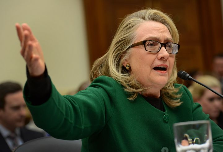 Hillary Clinton testifies on the Benghazi attack before the House Foreign Relations Committee in January 2013.