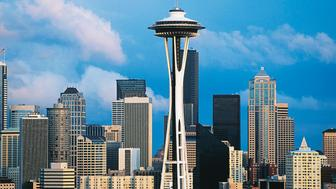 UNITED STATES - MARCH 29: The Space Needle, 1961-1962, designed by John Graham, John K Minasian and Victor Steinbrueck, Seattle, Washington, United States of America. (Photo by DeAgostini/Getty Images)
