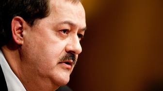 Don Blankenship, chairman and chief executive officer of Massey Energy Co., speaks during a Senate Appropriations Committee hearing on proposals to invest in mine safety programs, focusing on efforts to prevent mine disasters, in Washington, D.C., U.S., on Thursday, May 20, 2010. Massey Energy does not game the system by appealing government safety citations to delay enforcement action, Blankenship said in his first appearance before Congress since the explosion at a company coal mine killed 29 workers. Photographer: Andrew Harrer/Bloomberg via Getty Images