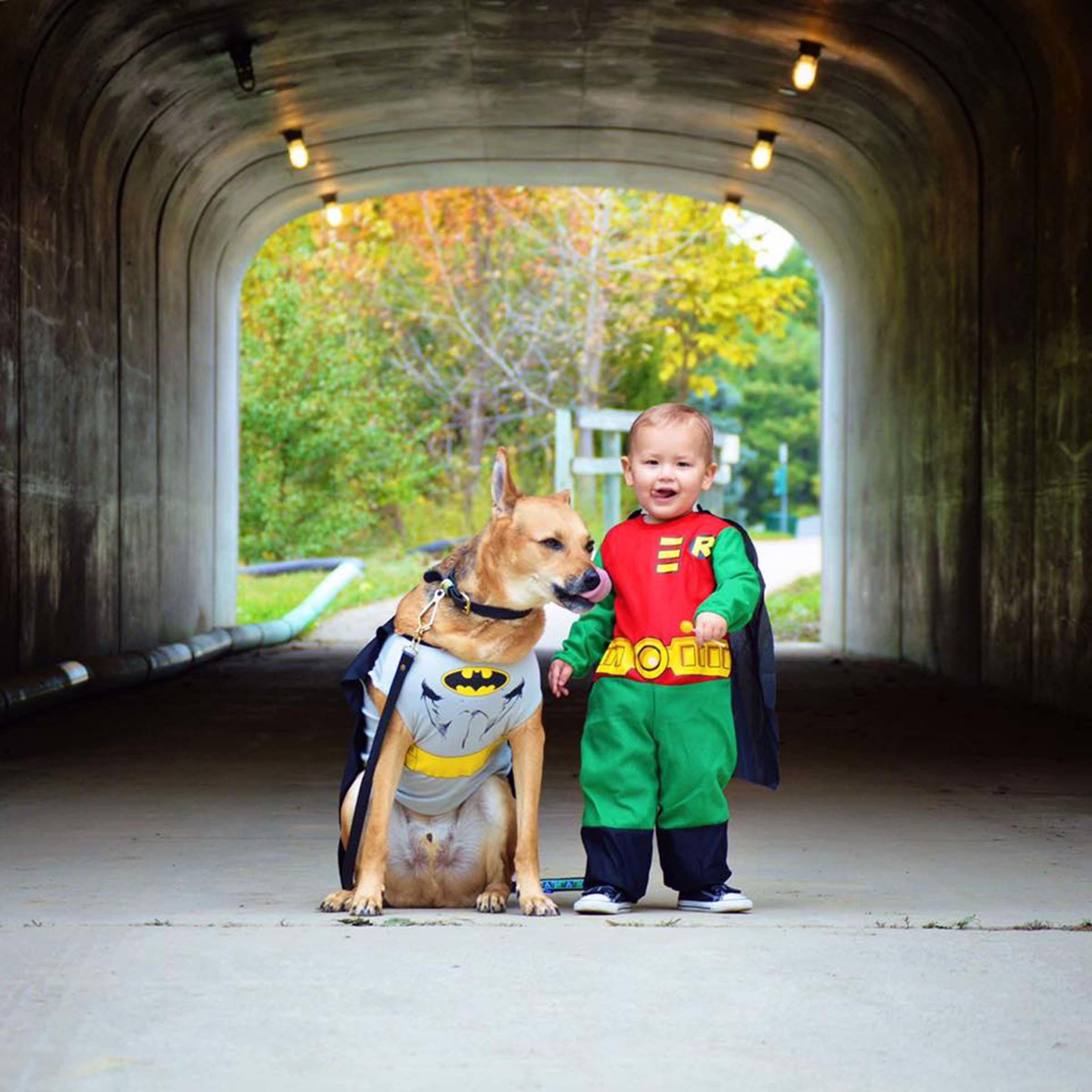 Courtesy ofu0026nbsp;Devin Crouch  sc 1 st  HuffPost & 23 Dog And Kid Halloween Costumes That Will Make You Squeal | HuffPost