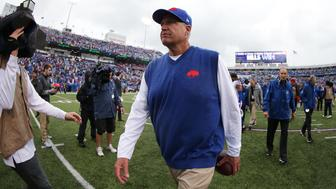 ORCHARD PARK, NY - SEPTEMBER 13:  Head Coach Rex Ryan of the Buffalo Bills walks off the field after beating the Indianapolis Colts at Ralph Wilson Stadium on September 13, 2015 in Orchard Park, New York.  (Photo by Brett Carlsen/Getty Images)