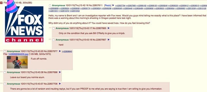 Did The Oregon Shooter Warn Of His Plans On 4chan? | HuffPost