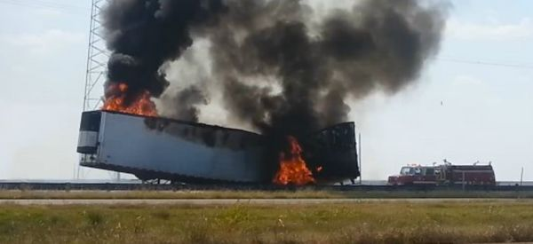 Onion Truck Ironically Catches Fire Near Frying Pan Road