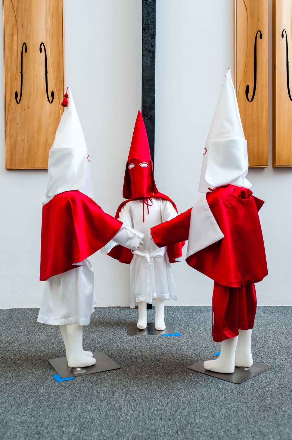"<strong>""Storm in a Time of Shelter,"" 2015: </strong>""For this piece, I re-imagined Ku Klux Klan robes from my memories"