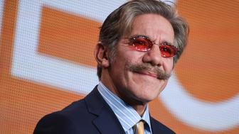 """Geraldo Rivera participates in """"The Celebrity Apprentice"""" panel at the NBC 2015 Winter TCA on Friday, Jan. 16, 2015, in Pasadena, Calif. (Photo by Richard Shotwell/Invision/AP)"""