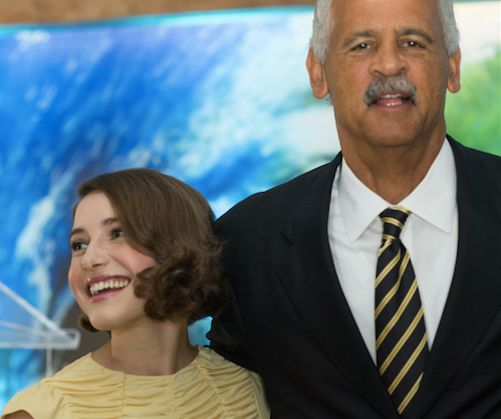 Caroline Jones and Stedman Graham at the Live Sonima Tour in 2014.