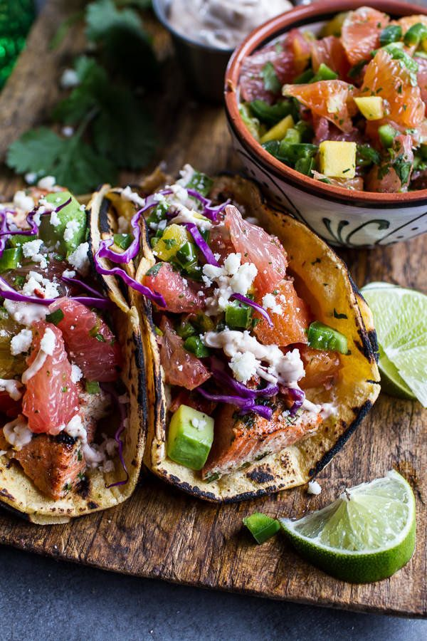 """<strong>Get the <a href=""""http://www.halfbakedharvest.com/cuban-fish-tacos-citrus-mango-slaw-chipotle-lime-crema/"""" target=""""_bl"""