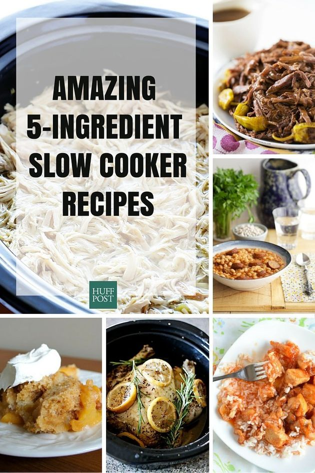 easy 5 ingredient slow cooker recipes