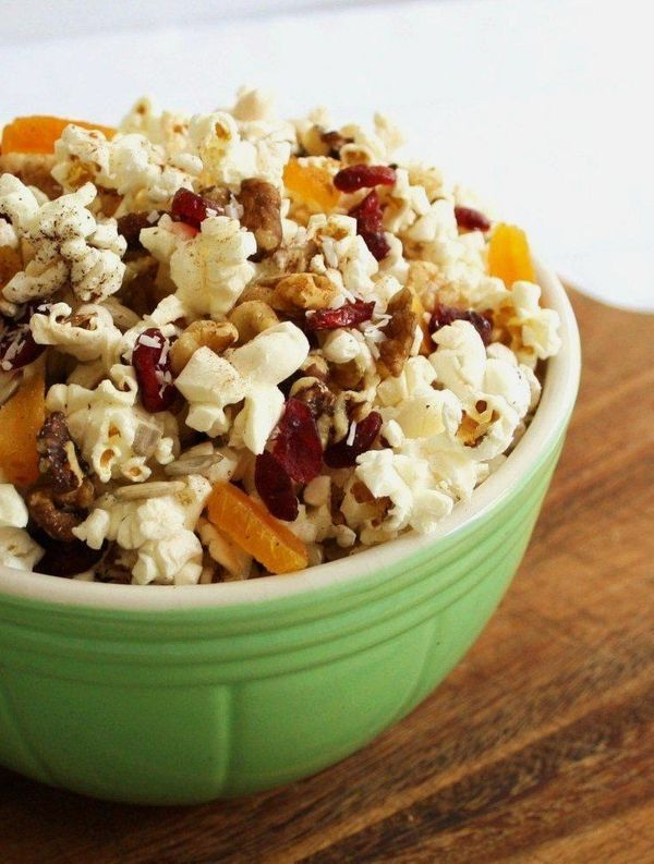 12 portable vegan snacks for when hunger hits huffpost sweet and salty is the name of the game and popcorn trail mix has won it forumfinder Images