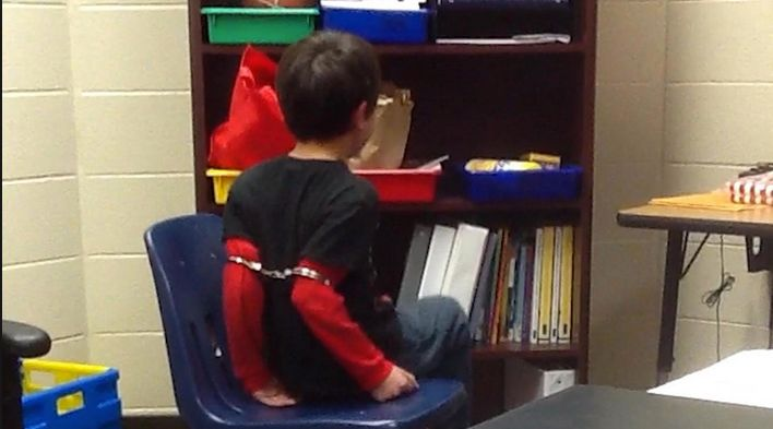 Imagesof a child being handcuffed at a Kentucky school went viral this year. TheKenton County Sheriff's Office is