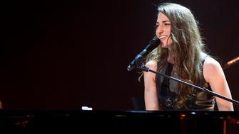 Sara Bareilles performs in concert at Madison Square Garden on Sunday, July 20, 2014 in New York. (Photo by Charles Sykes/Invision/AP)