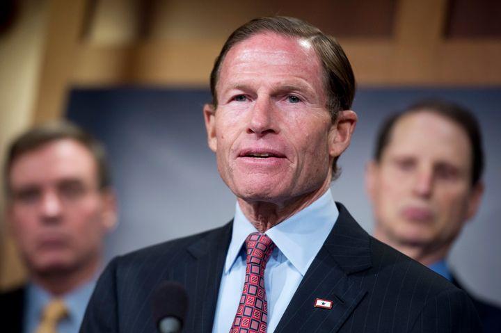 "Sen. Richard Blumenthal (D-Conn.) is co-sponsoring legislation to close the ""default to proceed"" gun background check loophol"
