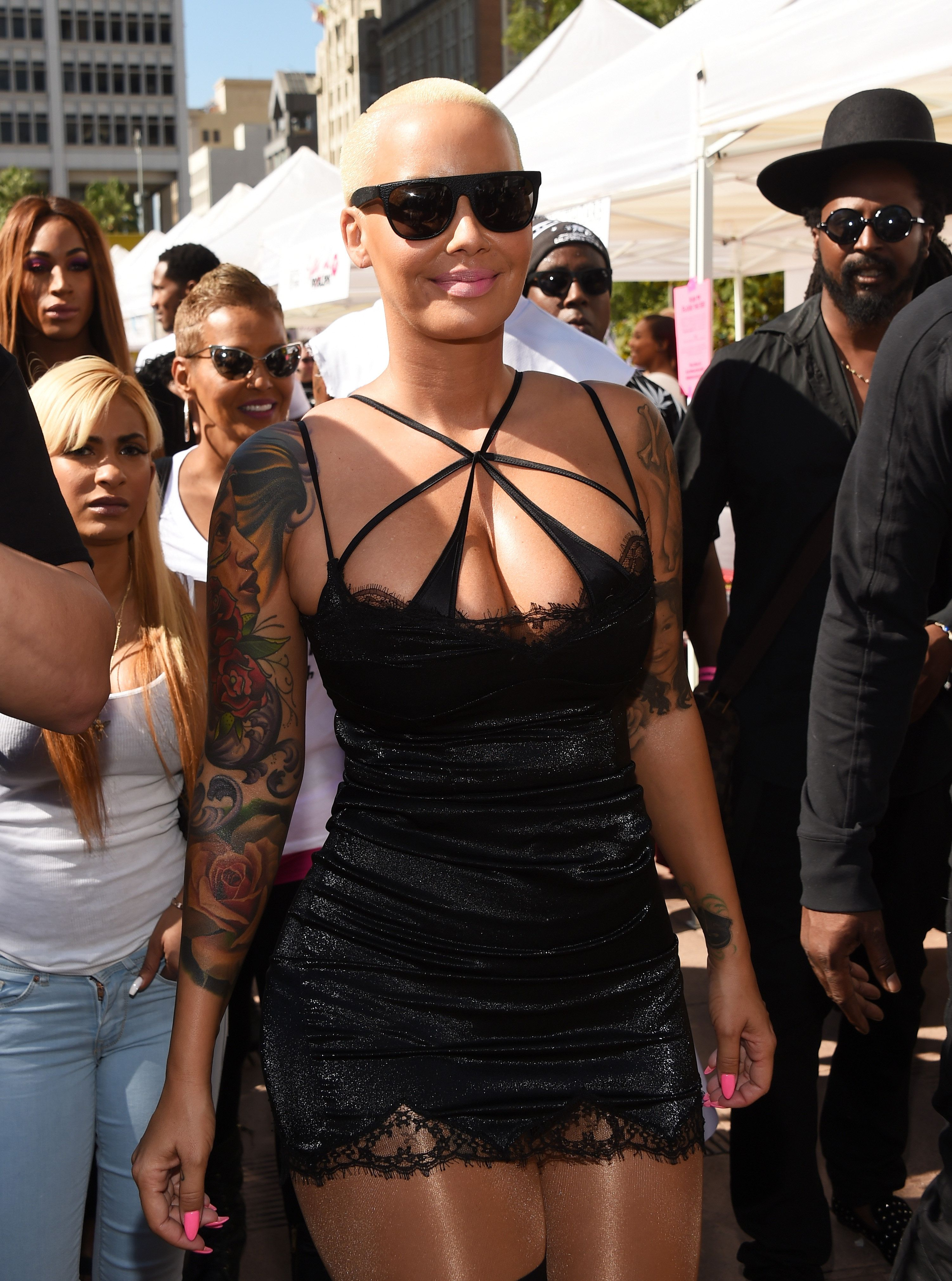 LOS ANGELES, CA - OCTOBER 03:  Model Amber Rose attends the Amber Rose SlutWalk LA at Pershing Square on October 3, 2015 in Los Angeles, California.  (Photo by Amanda Edwards/WireImage)