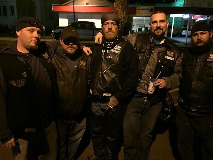 Members of the Anubis Ridans Motorcycle Club came out to support their community.