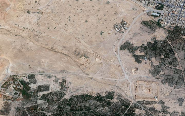 DigitalGlobe imagery of the Palmyra ruins collected on May 28th, 2015. A week after the town of Palmyra was captured by ISIS