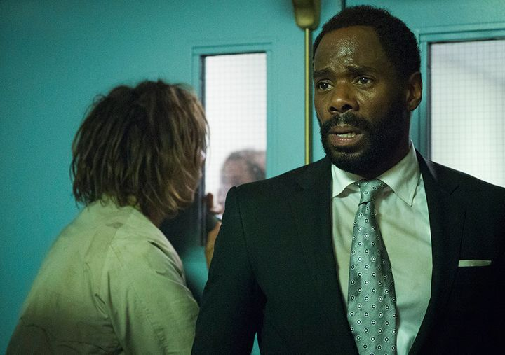We still don't know a lot about Strand, but from the look on his face, you cantell he's not a fan of being walker chow.
