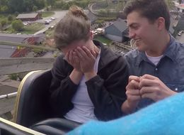 Guy Proposes To Girlfriend On A Roller Coaster
