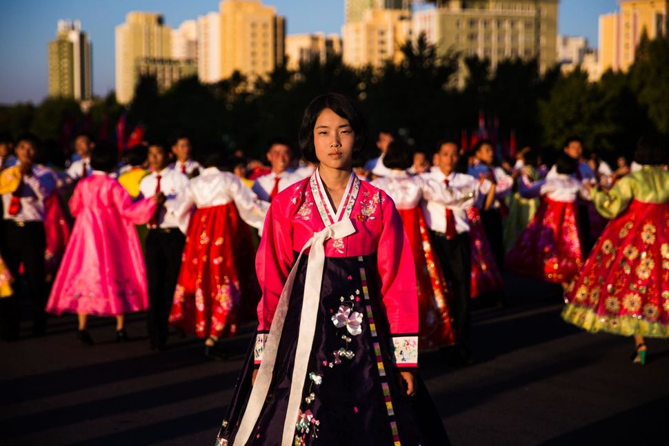 During the National Day huge mass dances are organized in big cities.