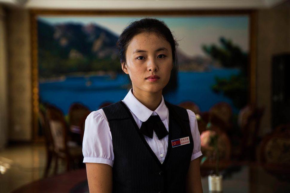 She was working in a hotel in Sinuiju
