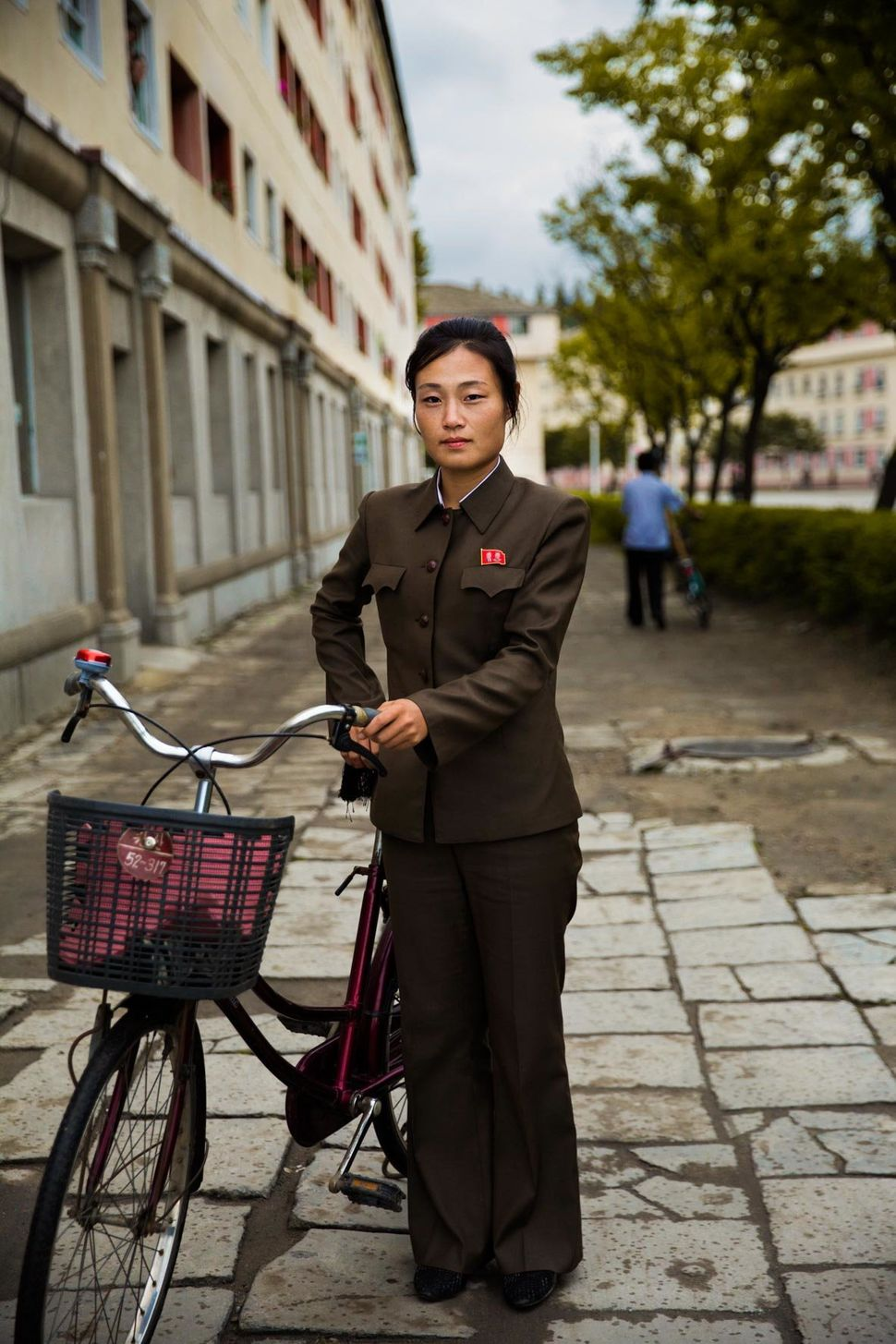 Bicycles are the most popular vehicle.