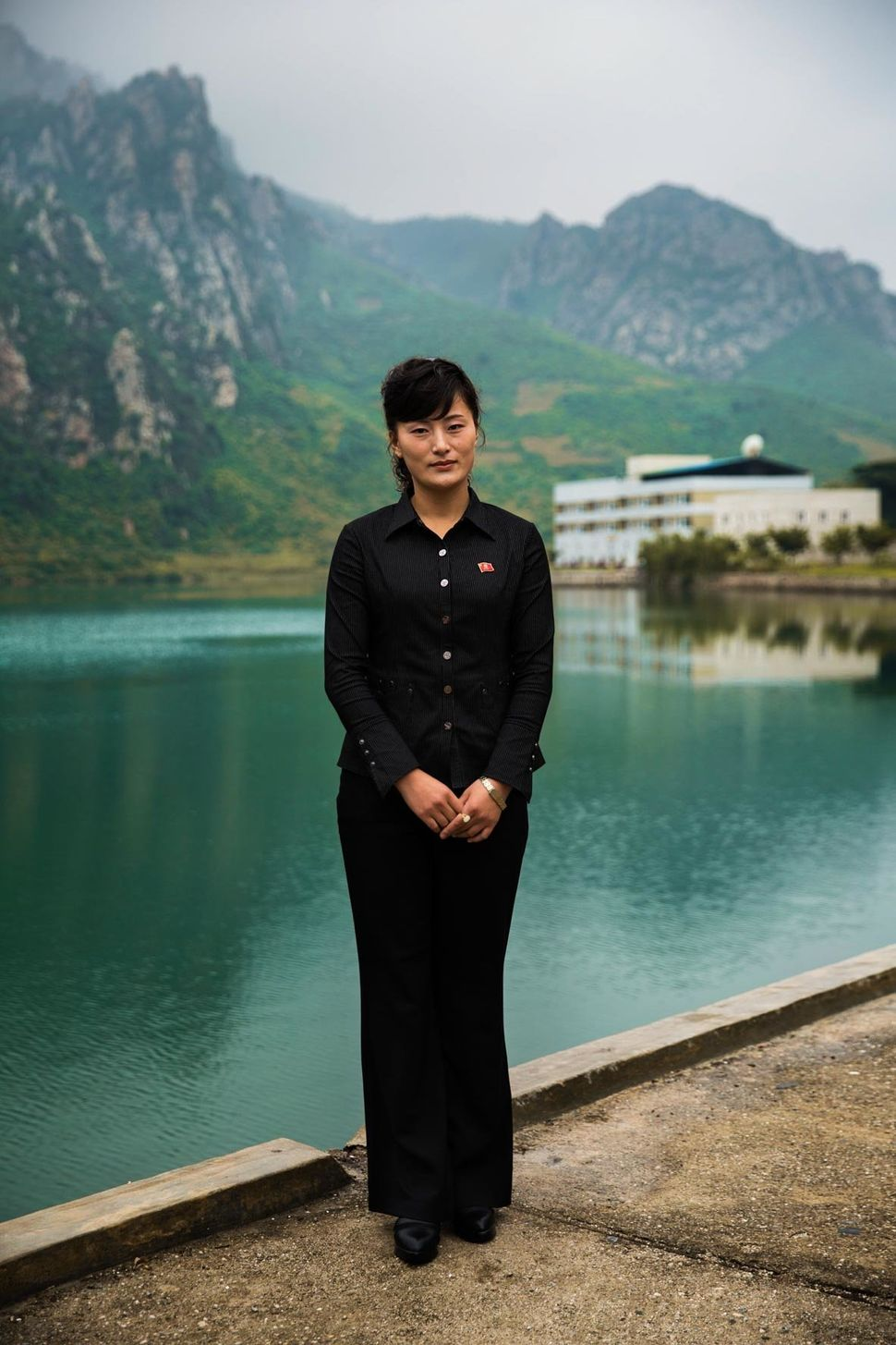 The landscape of North Korea is dominated by mountains.