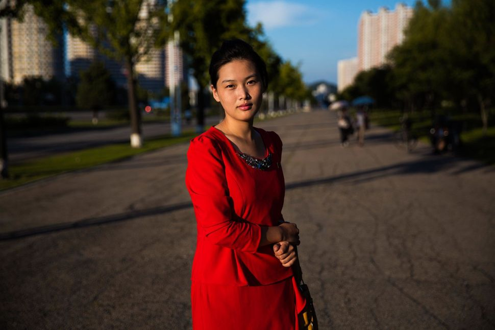 One of the wide boulevards of Pyongyang