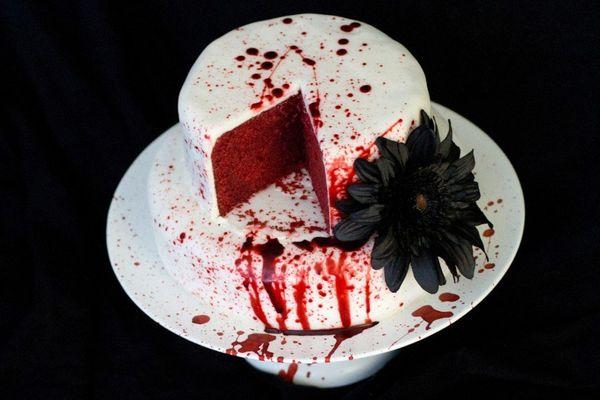 Red Velvet Blood Cake