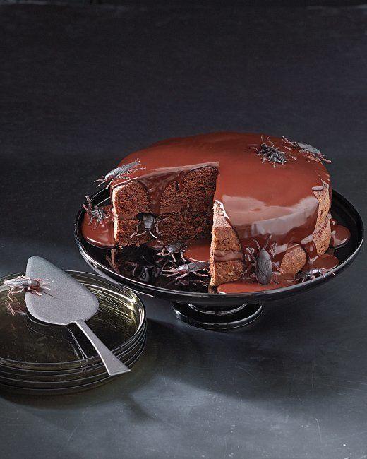 "<strong>Get the <a href=""http://www.marthastewart.com/856110/creepy-crawly-cake?czone=holiday%2Fhalloween-center%2Fhalloween-"