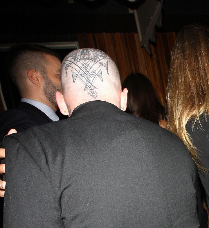 benji madden debuts crazy massive skull tattoo during