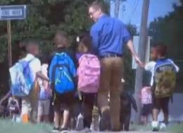 Teacher Who Walks Students Home Gets Recognition With Viral Photo
