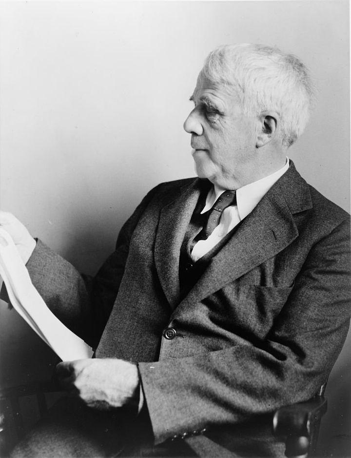 "Robert Frost via&nbsp;<a href=""https://commons.wikimedia.org/wiki/File:Robert_Frost_NYWTS.jpg"">Library of Congress</a>"