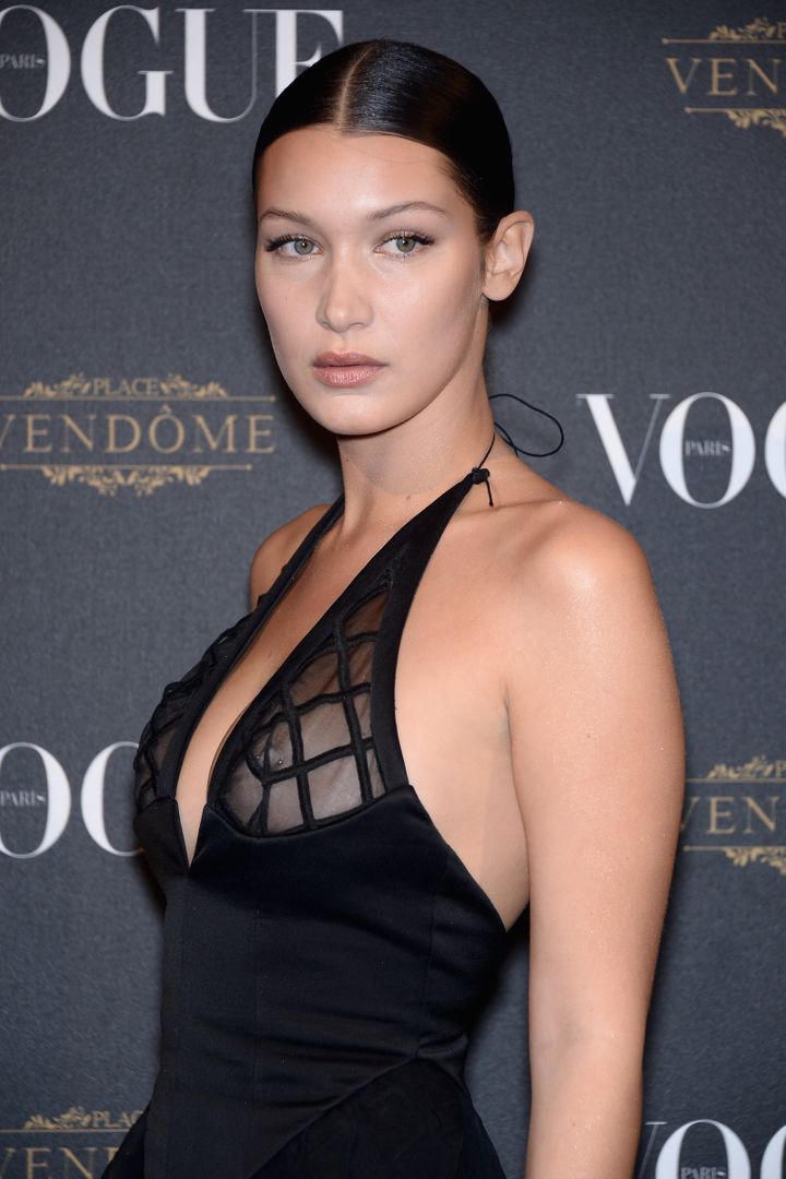 edf256ddd2 Bella Hadid Embraces The Nipple Piercing And Sheer Dress Look