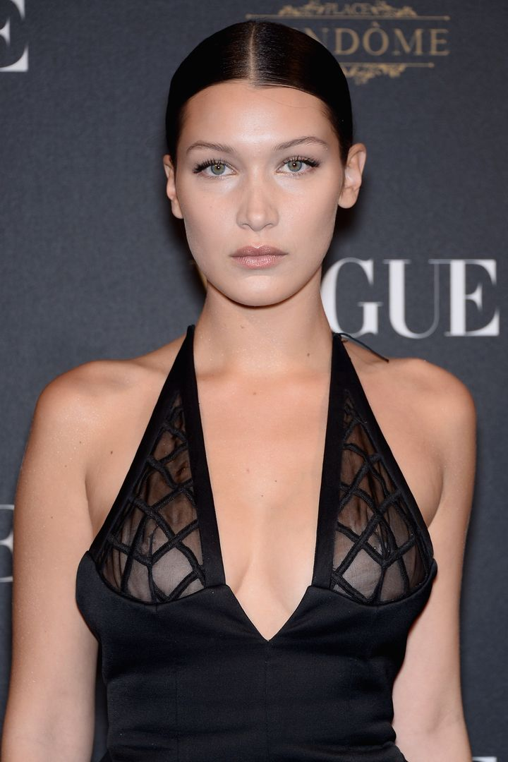 bella hadid embraces the nipple piercing and sheer dress look | huffpost