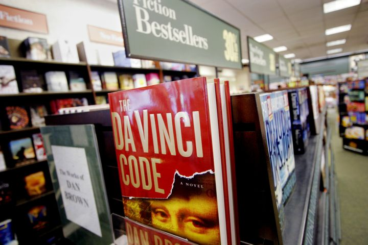 <i>The Da Vinci Code</i> by Dan Brown is on display in a Barnes &amp; Noble Wednesday, Aug. 16, 2006 in the Brooklyn borough