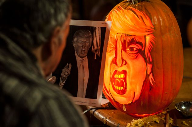 How To Carve Donald Trump's Face Into A Pumpkin This Halloween...