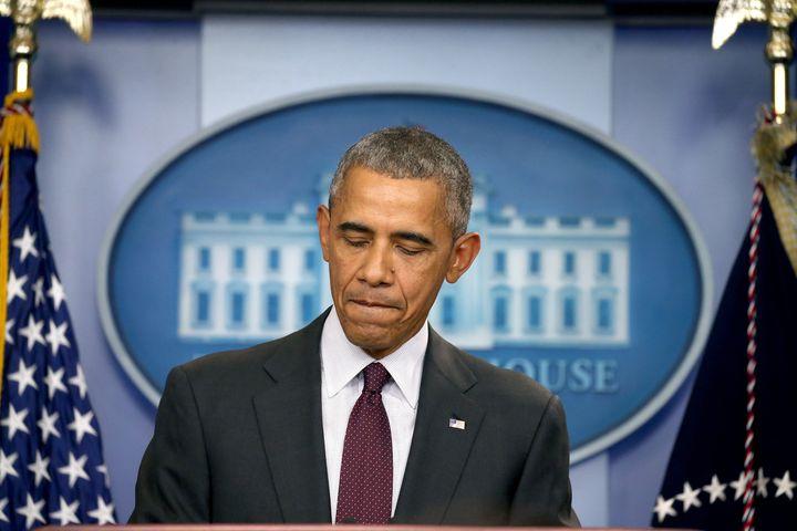 WASHINGTON, DC - OCTOBER 01: President Barack Obama speaks at a press conference on October 1, 2015 in Washington, DC. Accord