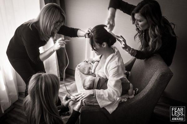 """There's a lot going on in this image—more than you probably even notice at first glance. This new mom of twins and bri"