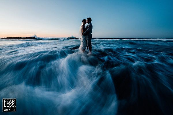"""Our spouses are often our proverbial 'islands in a storm'; in this image, those words are brought to life. As the swirling b"