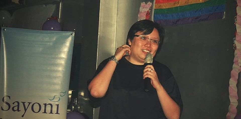 Activist Jean Chong, pictured speaking at an LGBT event in 2011, is at the forefront of the fight for...