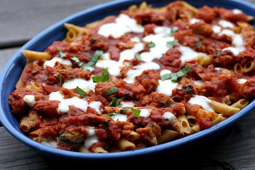 "<strong>Get the <a href=""http://ellysaysopa.com/2012/05/23/baked-ziti/"">Baked Ziti With Turkey recipe</a> from Elly Say'"