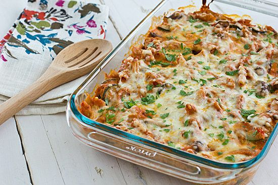 "<strong>Get the <a href=""http://ohmyveggies.com/recipe-vegetable-baked-ziti/"">Vegetable Baked Ziti recipe</a> from Oh My"